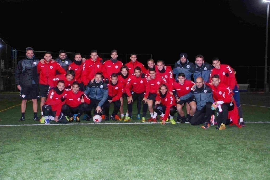 concentracion equipo de segunda división Llagostera