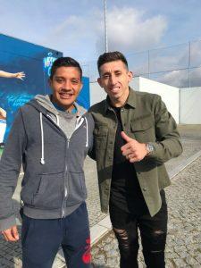 Fußball-Test unseres mexikanischen Spielers bei FCPorto mit Hector Herrera