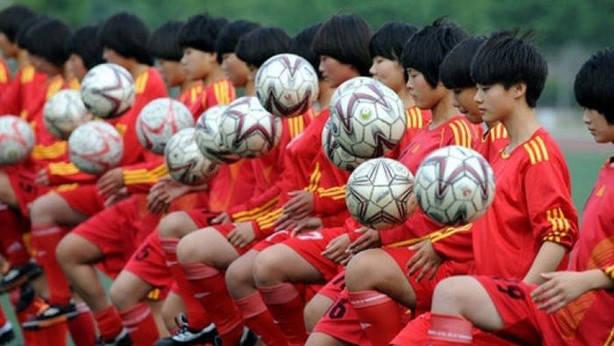entrenamiento futbol enChina
