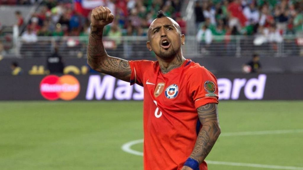 Arturo Vidal jugador chileno de la selección chilena