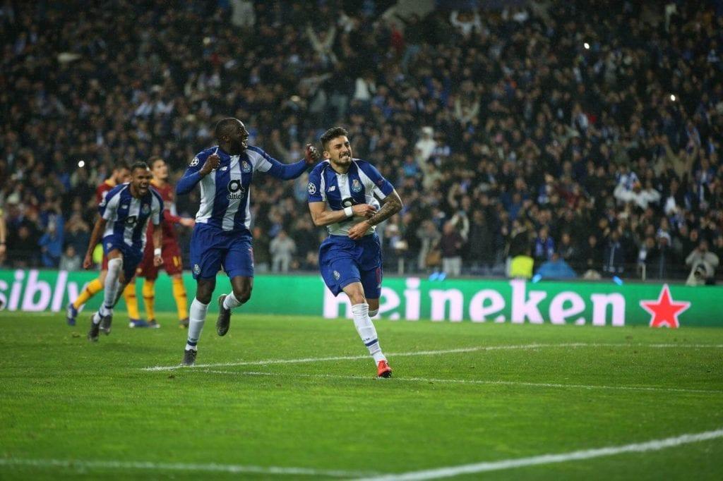 Celebración del gol del FC Porto