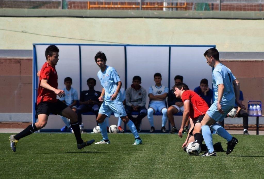 partido de futbol amistoso entre SIA y GPS