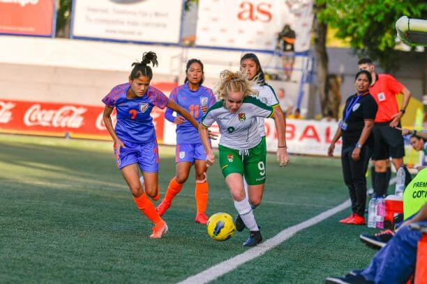 India women's soccer team at COTIF