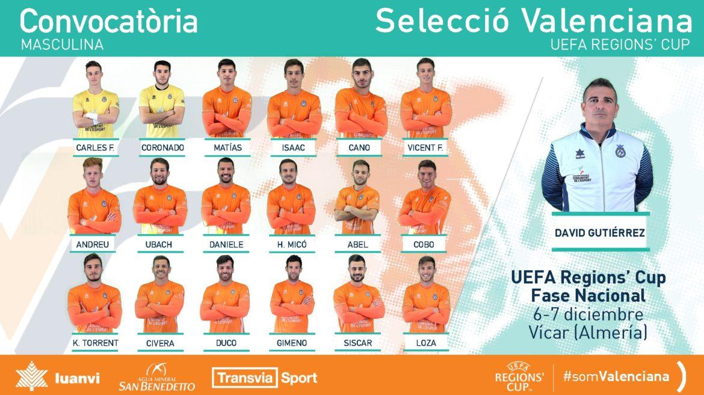 Lista de convocados para UEFA REGIONS CUP