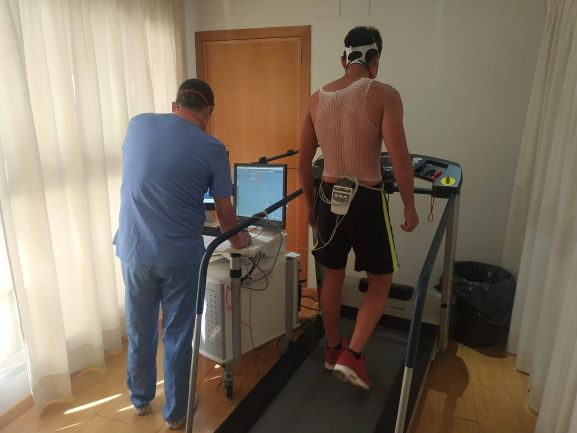Stress test at the International Football Academy in Spain