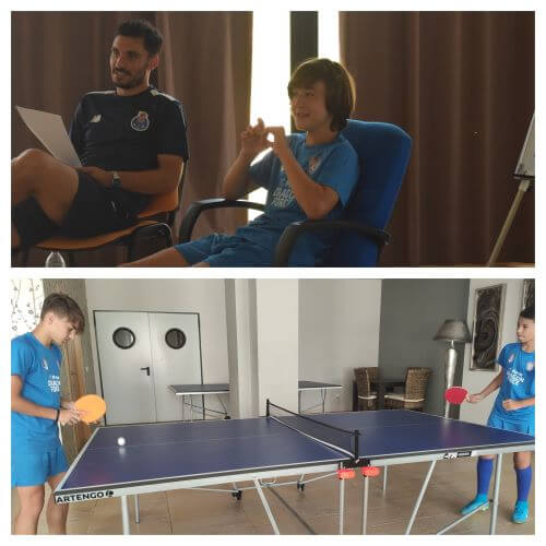Workshops and Leisure at the Soccer Camps in Spain