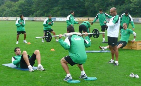 entrenamiento de fuerza equipos futbol