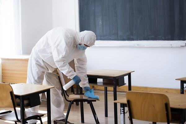 limpieza y desinfección test covid