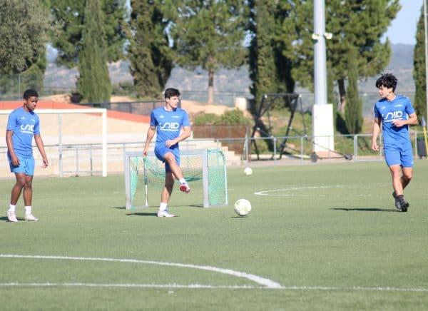 intensidad en entrenamientos academia de fútbol